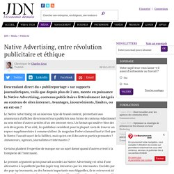 Native Advertising, entre révolution publicitaire et éthique