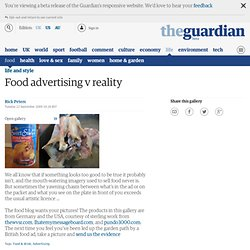 Food advertising v reality