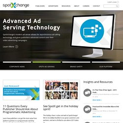 Online Video Advertising | Video Ad Network - SpotXchange