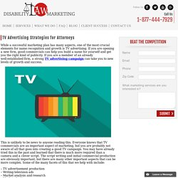 TV Advertising Strategies for Attorneys