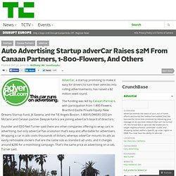 Auto Advertising Startup adverCar Raises $2M From Canaan Partners, 1-800-Flowers, And Others