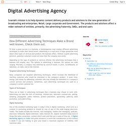 Digital Advertising Agency: How Different Advertising Techniques Make a Brand well known, Check them out.