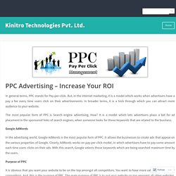 PPC Advertising – Increase Your ROI – Kinitro Technologies Pvt. Ltd.