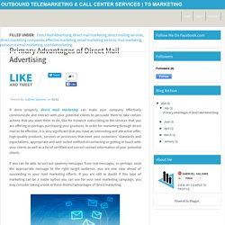Topmost Advantages of Direct Mail Marketing