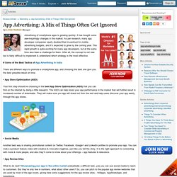 App Advertising: A Mix of Things Often Get Ignored by Linda Hudson