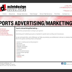 Sports Teams Advertising and Marketing | Orlando Area Graphic Design | Logo Design | Web Design | Brochure Design | xclntDesign