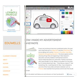 How I made my advertisment in Keynote – EDUWELLS