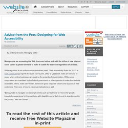 Advice from the Pros: Designing for Web Accessibility