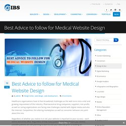 Best Advice to follow for Medical Website Design