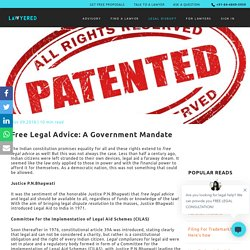 Free Legal Advice: A Government Mandate