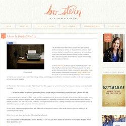 Advice to Hopeful Writers - Bo Stern