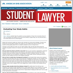 ADVICE FROM THE INSIDE | Law Student Division