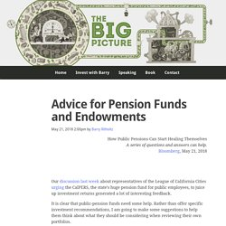 Advice for Pension Funds and Endowments