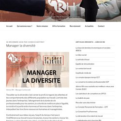 Advice RH - Manager la diversité