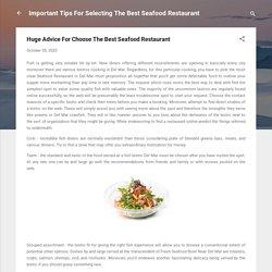 Huge Advice For Choose The Best Seafood Restaurant