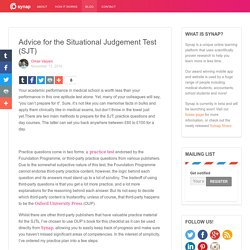 Advice for the Situational Judgement Test (SJT) - Synap