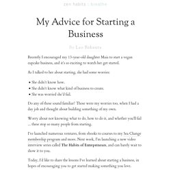 My Advice for Starting a Business