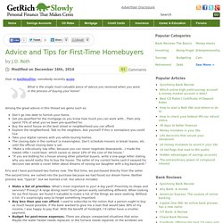 Advice and Tips for First-Time Homebuyers