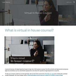 Legal Advice - virtual-inhouse-counsel