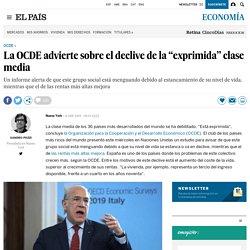 """La OCDE advierte sobre el declive de la """"exprimida"""" clase media"""