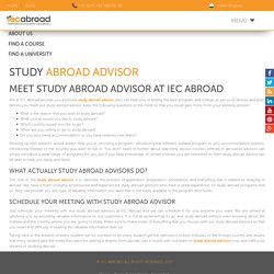 Study Abroad Advisor Information