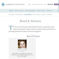 Board & Advisors - Garrison Institute