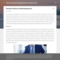 The Role of Advisors in Wealth Management