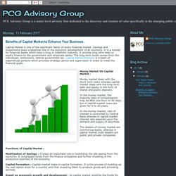 PCG Advisory Group: Benefits of Capital Market to Enhance Your Business.