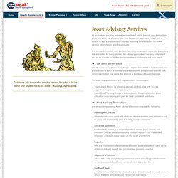 Asset Advisory Services - Kotak Wealth Management
