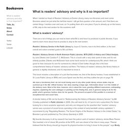 What is readers' advisory and why is it so important? — Bookavore