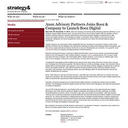 Axon Advisory Partners Joins Booz & Company to Launch Booz Digital