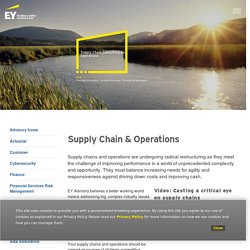 EY Advisory Services - Supply Chain & Operations - EY - India
