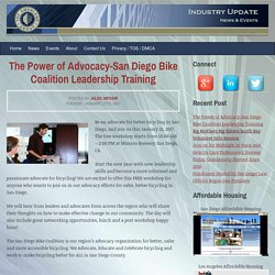 The Power of Advocacy-San Diego Bike Coalition Leadership Training - Amerland News