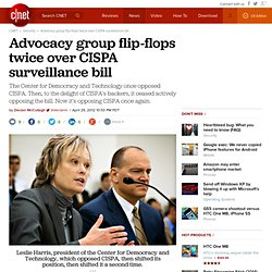 Advocacy group flip-flops twice over CISPA surveillance bill