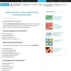 Brand Advocacy : carte d'identité des clients influenceurs
