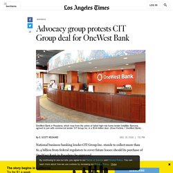 12/15/14: Advocacy group protests CIT Group deal for OneWest Bank