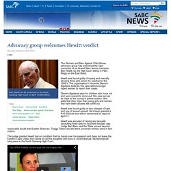 Advocacy group welcomes Hewitt verdict:Monday 23 March 2015