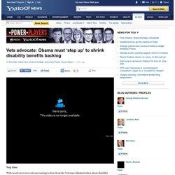 Vets advocate: Obama must 'step up' to shrink disability benefits backlog