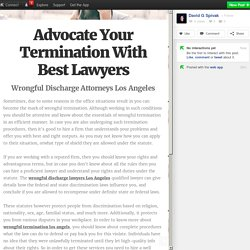 Advocate Your Termination With Best Lawyers