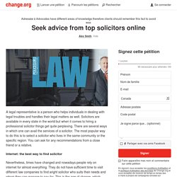 Seek advice from top solicitors online
