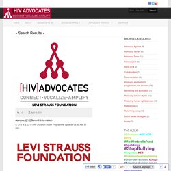 HIV Advocates – Levi Strauss Foundation
