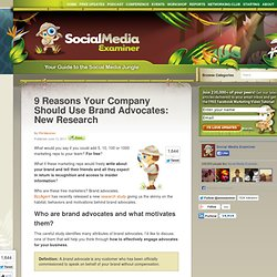 9 Reasons Your Company Should Use Brand Advocates: New Research