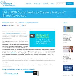 Using B2B Social Media to Create a Nation of Brand Advocates