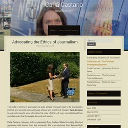 Advocating the Ethics of Journalism