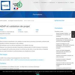ADVP et validation de projet