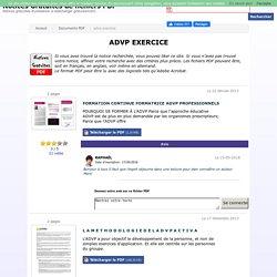 Advp exercice - Document PDF