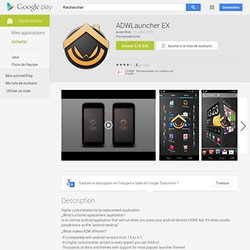 ADWLauncher EX - Apps on Android Market