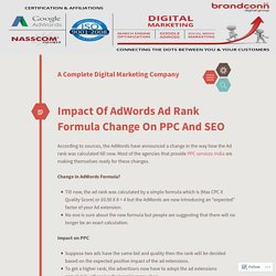 Impact Of AdWords Ad Rank Formula Change On PPC And SEO