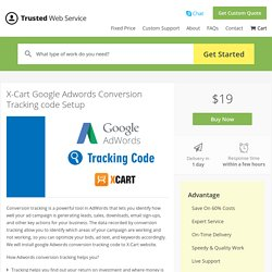 X-Cart Google Adwords Conversion Tracking code Setup in