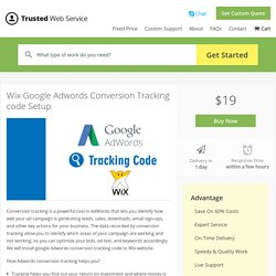 Wix Google Adwords Conversion Tracking code Setup in
